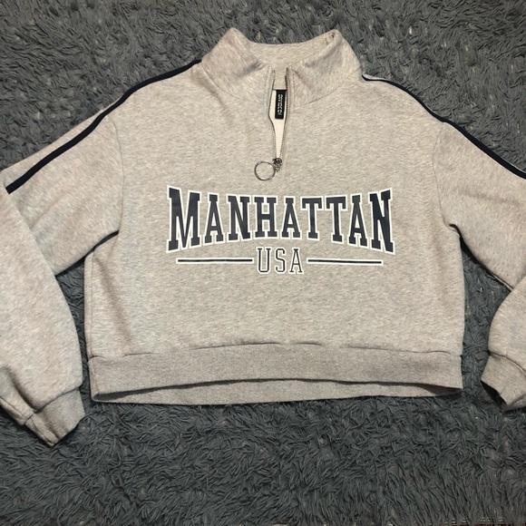 Divided Tops Cropped Sweater Manhattan Usa Poshmark